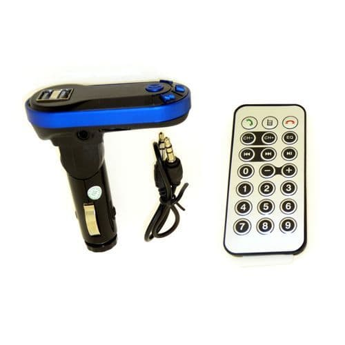 CAR MP3 PLAYER FM TRANSMITTER WITH BLUETOOTH